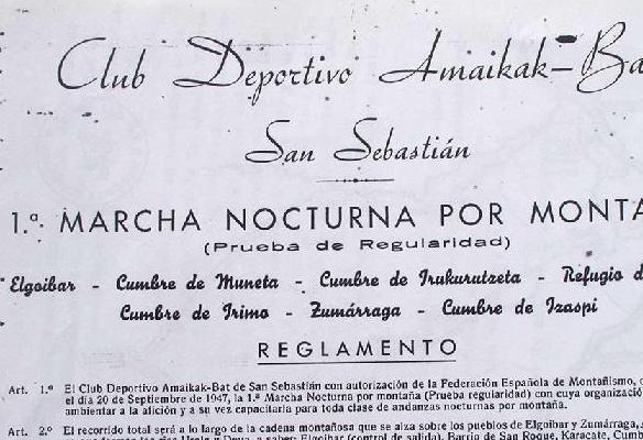 Primera marcha nocturna, 1947