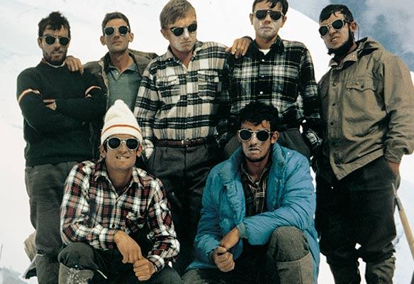 Miembros de la primera expedición vasca a los Andes de 1967 (Archivo expedición Andes 67)