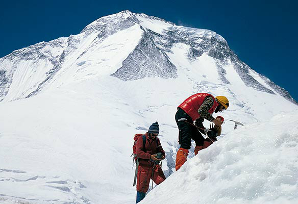 Navarros en las laderas del Dhaulagiri en 1979 (G. Ariz)