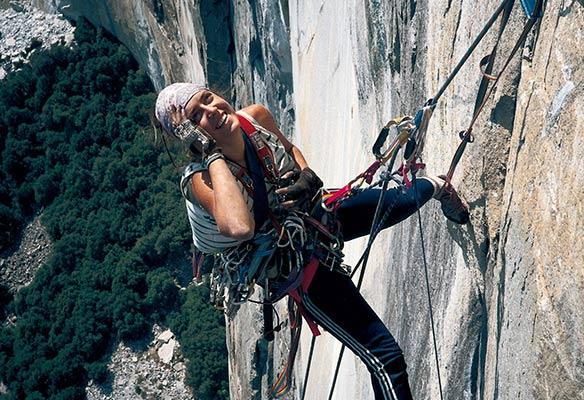 Miriam García escalando en Yosemite en 1987 (M. García)