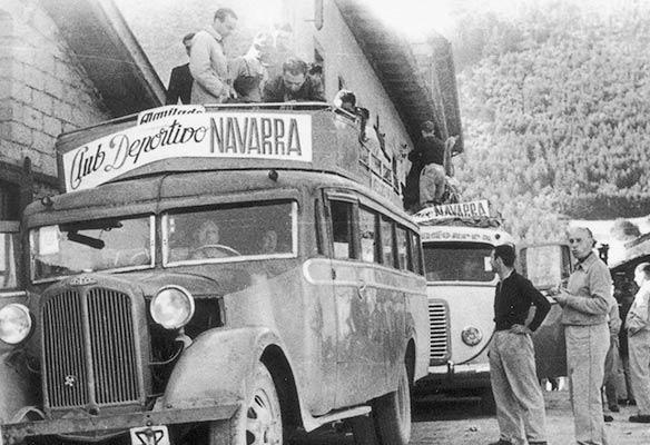 Excursión del C.D. Navarra en los años cuarenta (Archivo C.D. Navarra)