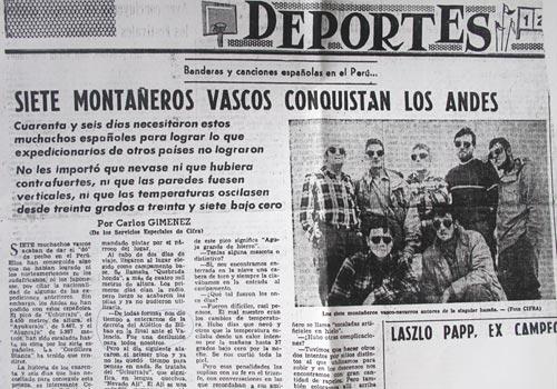 Colecciones de prensa sobre el montañismo vasco donados al Museo EMMOA
